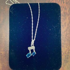 Kay Jewelers Blue stone music note 🎶